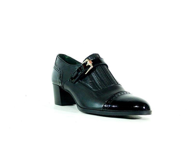 Mujer Román Elía Negro Zapato Tacón Zapatos qfpgzOw