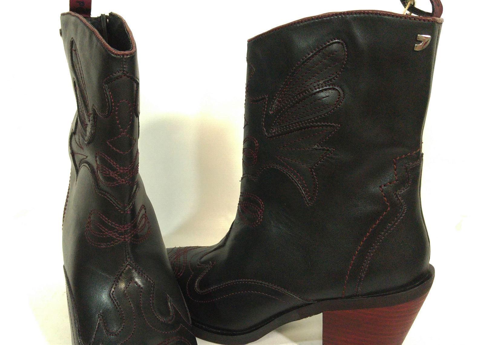 amplia selección precio moderado diseño unico GIOSEPPO_ Botines negro cowboy detalles burdeos