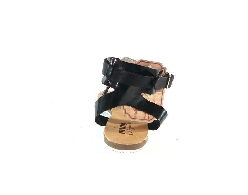 Negro Sandalia Plana En Calzado Mustang Chica 7vbYgyf6