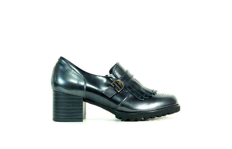 Pitillos Zapatos Gris Abotinado Flecos Zapato ww70CTUxq