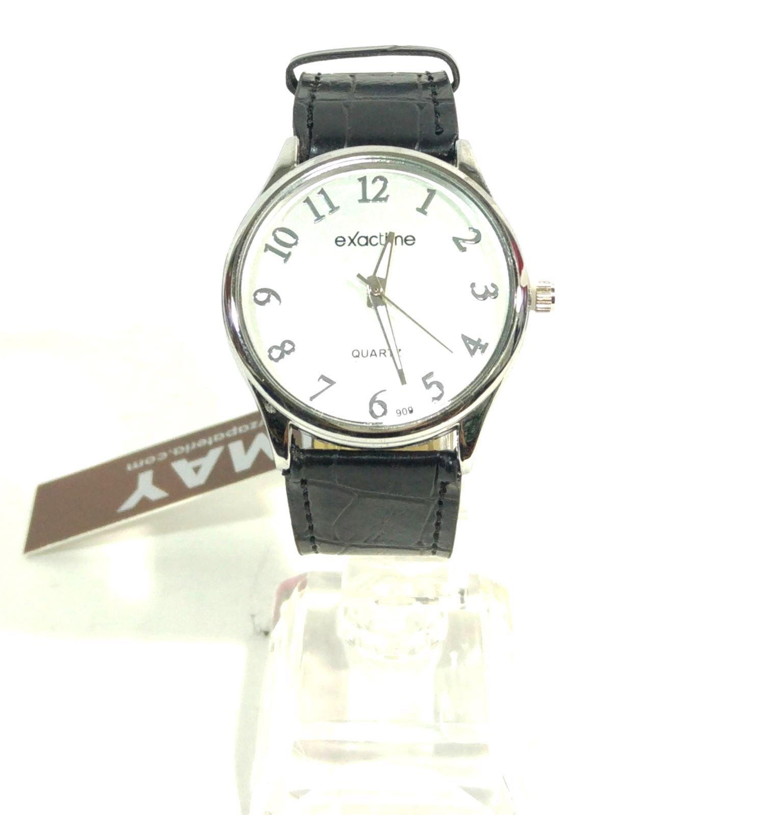 Reloj correa negra-esfera blanca - Imagen 1 98c64e562d3e